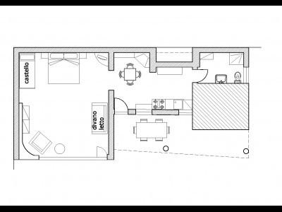 Apartamento Loft 60 mq con giardino